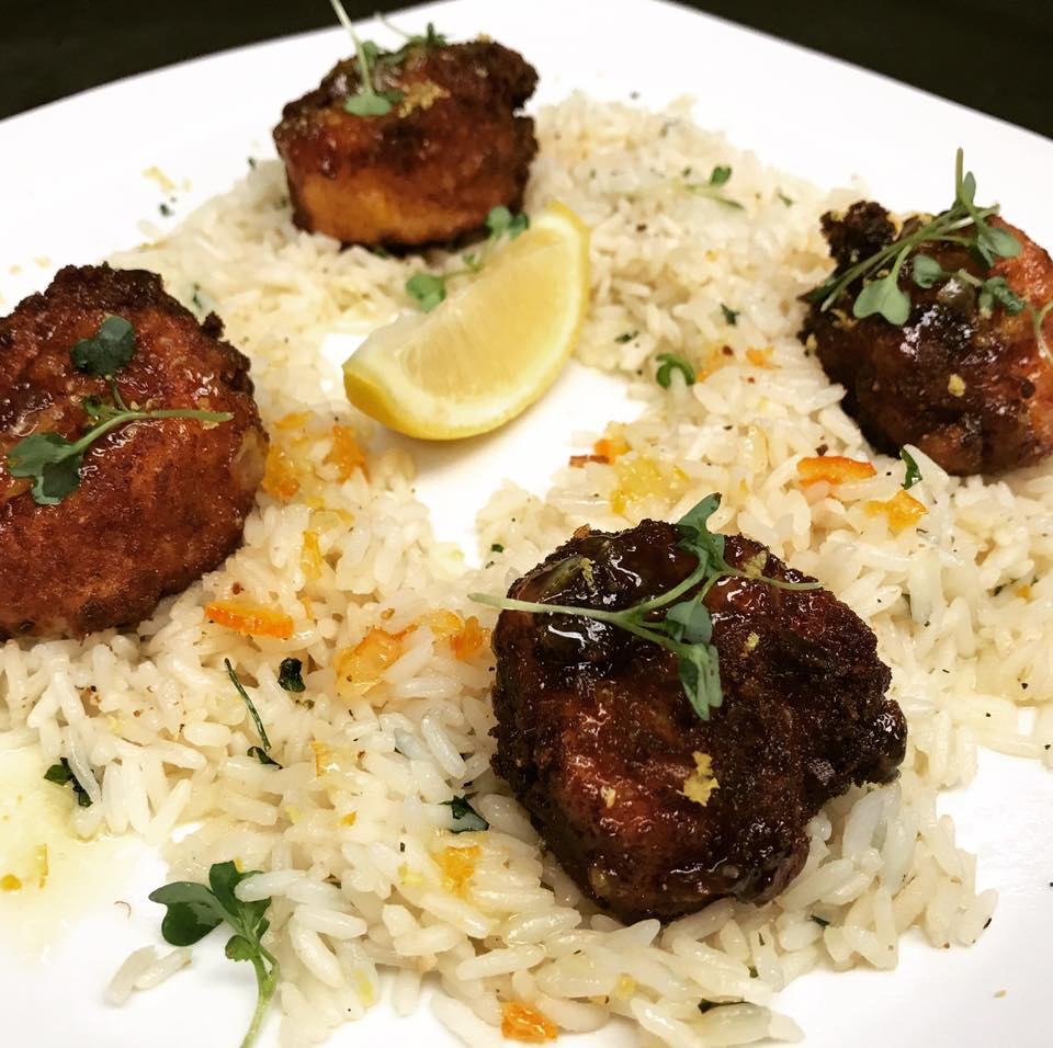 An image of coconut coated scallops